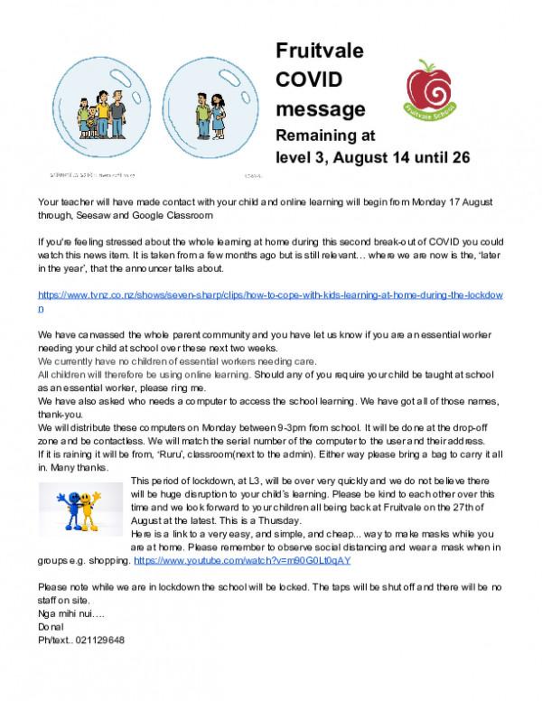 Fruitvale Covid Message Aug 15 2020 (1)